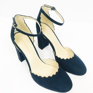 Marc Fisher Sahar scalloped ankle strap heels 458
